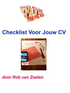 checklist voor jouw cv